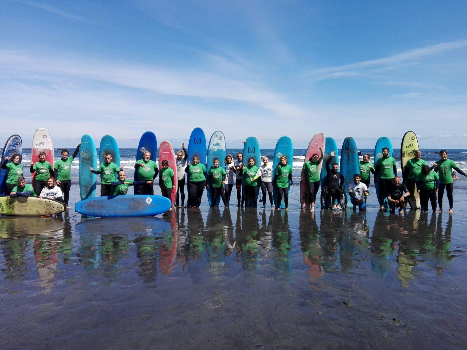 Clases de surf para discapacitados